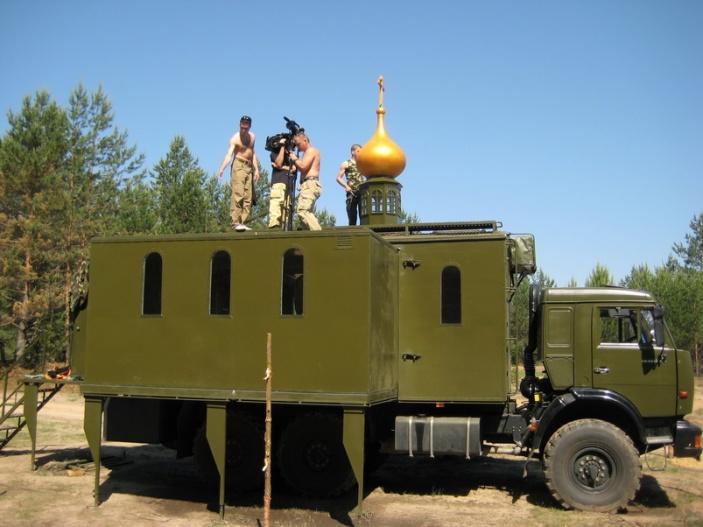 Передвижной храм для российской армии часть